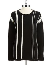 Calvin Klein Striped Pull Over Sweater - Lyst
