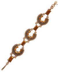 Lucky Brand - Goldtone Arc Pendant Flex Bracelet - Lyst