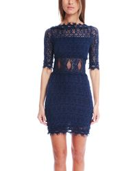 Nightcap Crochet Off Shoulder Dress - Saphire - Lyst