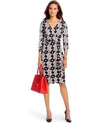 Diane von Furstenberg New Julian Two Silk Jersey Wrap Dress floral - Lyst