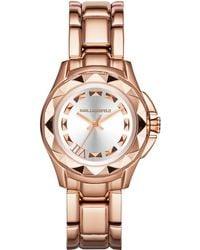 Karl Lagerfeld Unisex Karl 7 Rose Gold-Tone Pyramid Stud Watch - Lyst