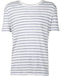 ATM Striped T-Shirt white - Lyst