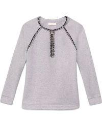 Tory Burch Paisley Sweatshirt - Gray