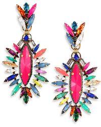 Erickson Beamon Telepathic Crystal Marquis Drop Earrings - Lyst