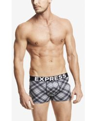 Express Plaid Knit Sport Trunks - Lyst