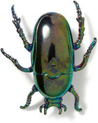 Banana Republic Beetle Brooch - Green