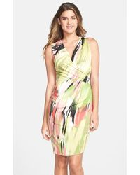 Kut From The Kloth Print Wrap Detail Body-Con Dress - Lyst