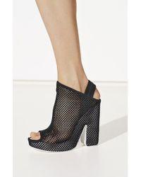 Balenciaga Open Toe Mesh Platform Mule - Lyst