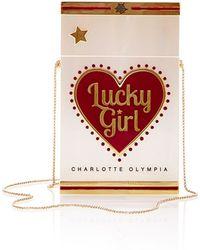 Charlotte Olympia Smokin Lucky Girl Clutch - Lyst