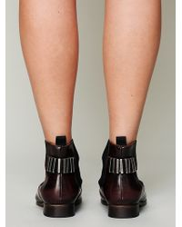 Free People Womens Castillo Chelsea Boot - Red