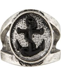 Icon Brand - Ring With Anchor Insignia - Lyst