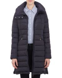 Moncler Funnel Neck Flamme Puffer Coat - Blue