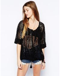 Denim & Supply Ralph Lauren - Lace Peasant Top - Lyst