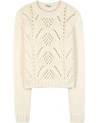 Miu Miu | Wool Sweater | Lyst