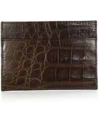 Santiago Gonzalez Crocodile Card Case brown - Lyst