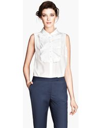 H&M Blouse in A Silk Mix - Lyst