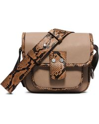 Michael Kors Taylor Small Leather Messenger - Lyst