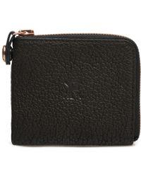 Parabellum | black Black Leather Courier Zip Wallet | Lyst