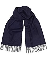 Sunspel - Cashmere Scarf In Navy - Lyst