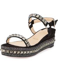 louboutin knockoffs - Christian louboutin \u0026#39;cataclou\u0026#39; Espadrille Platform Sandal in White ...