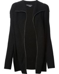 Vince Ribbed Knit Jacket - Lyst