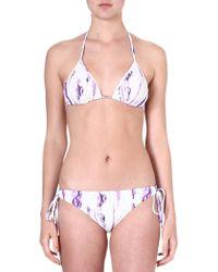 Matthew Williamson Tiedye Triangle Bikini Lilac - Lyst
