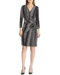 Josie Natori Printed Jersey Wrap Dress - Lyst