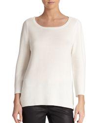 Eileen Fisher Textured Knit Sweater - Lyst