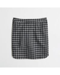 J.Crew Factory Shirttail Mini in Houndstooth - Lyst