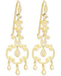 Eli Jewels - Aegean Collection 18k Diamond Open-drop Earrings - Lyst