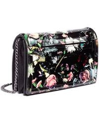 McQ by Alexander McQueen Festive Floral Patent Leather Clutch - Lyst