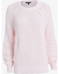 Exclusive For Intermix Raglan Sleeve Knit: Pink - Lyst