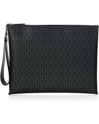 Christian Louboutin - Peter Leather And Fishnet Pouch - Lyst