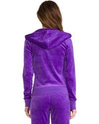 Juicy Couture - J Bling Hoodie in Purple - Lyst