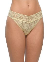 Hanky Panky Lace Thong - Lyst
