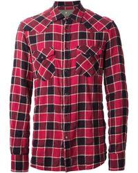Dondup Blue Checked Shirt - Lyst