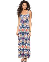 Ella Moss - Totem Maxi Dress Sunset - Lyst