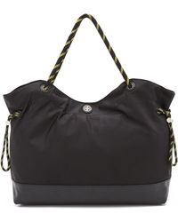 Tory Burch Nylon Cinched Tote - Black - Lyst
