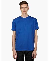 Sunspel Mens Blue Short Sleeve Crew Neck T-shirt - Lyst