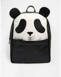 Asos Panda Backpack black - Lyst