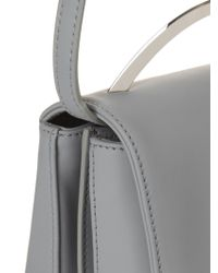 Eddie Borgo Boyd Vanity Leather Cross-body Bag - Gray