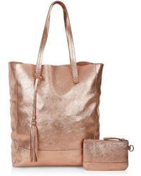 Accessorize - Leather Panel Shopper Bag - Lyst