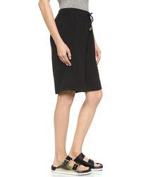 Just Female - Lee Long Shorts - Black - Lyst