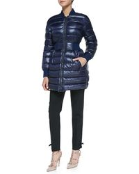 RED Valentino Puffer Coat with Elastic Waist  Cropped Pants with Bow Cuff Detail - Lyst