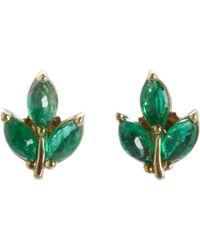 Finn - Leaf Stud Earrings - Lyst