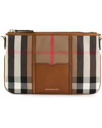 Burberry House Check Clutch - Lyst