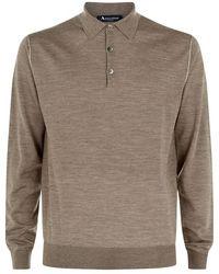 Aquascutum Wells Silk Polo Sweater - Lyst