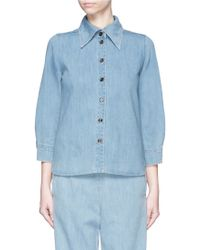 Chloé | Washed Denim Shirt | Lyst