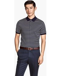 H&M Polo Shirt In A Silk Blend - Lyst