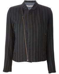 Cotélac Striped Zip Front Blazer - Lyst